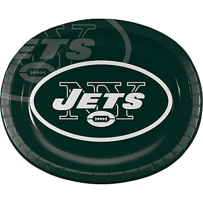 NFL New York Jets Oval Plates 8 pk (069522)