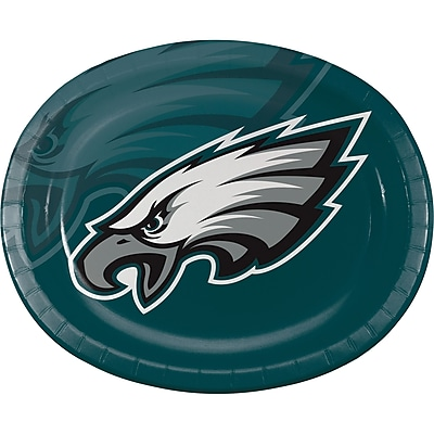 NFL Philadelphia Eagles Oval Plates 8 pk (069524)
