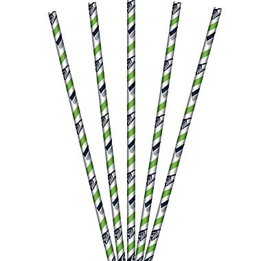 NFL Seattle Seahawks Paper Straws 24 pk (059528)
