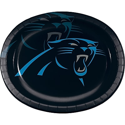 NFL Carolina Panthers Oval Plates 8 pk (322418)