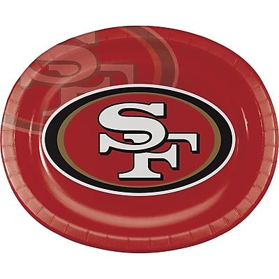 NFL San Francisco 49ers Oval Plates 8 pk (069527)