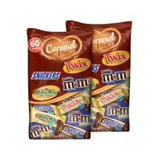 Mars Caramel Lovers Fun Size Chocolate, Variety Flavors, 37.7 Oz., 60/Bag, 2 Bags/Box (225-00031)