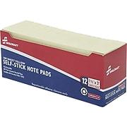 """Skilcraft Standard Adhesive Notes, 1.5"""" x 2"""" Yellow, 100 Sheets/Pad, 12 Pads/Pack (7530-01-116-7866)"""