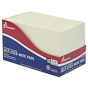 """Skilcraft Standard Adhesive Notes, 3"""" x 3"""" Yellow, 100 Sheets/Pad, 12 Pads/Pack (7530-01-116-7867)"""