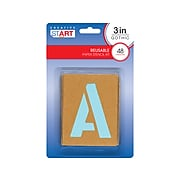 Cosco Creative Start Assorted Stencils, Brown, 48/Pack (098162)