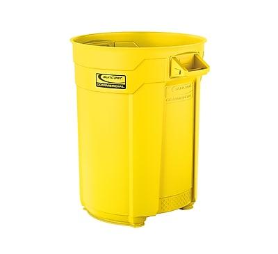 Suncast Commercial Utility Trash Can, 55 Gallon, Yellow (BMTCU55Y)