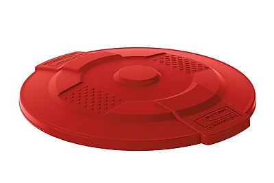 Suncast Commercial Utility Trash Lid, 32 Gallon, Red (TCU32LIDR)