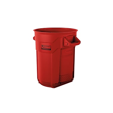 Suncast Commercial Utility Trash Can 20 Gallon, Red (BMTCU20R)