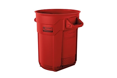 Suncast Commercial Utility Trash Can, 20 Gallon, Red (BMTCU20R)