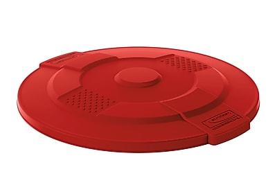 Suncast Commercial Utility Trash Lid, 55 Gallon, Red (TCU55LIDR)
