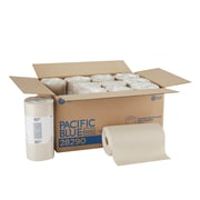 Pacific Blue Basic Kitchen Rolls Paper Towels, 2-ply, 250 Sheets/Roll, 12 Rolls/Carton (28290)