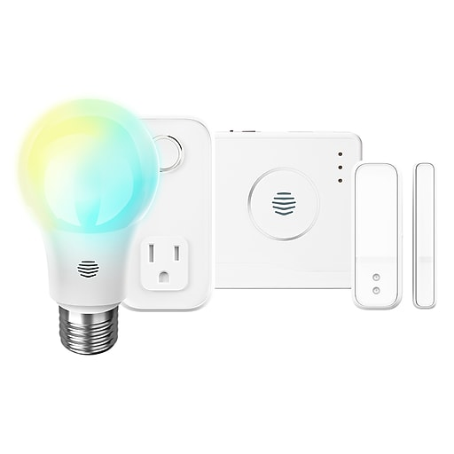 Hive Starter Pack Smart Home Automation with LED Lights, Smart Outlet, &  Motion Sensors, White (USAMZNHS006)