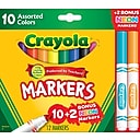 Crayola Markers, Assorted Colors, 12/Box (58-7750)