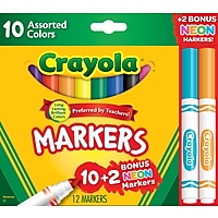 Deals on Crayola Markers Assorted Colors Bonus Pack 12/Box 58-7750