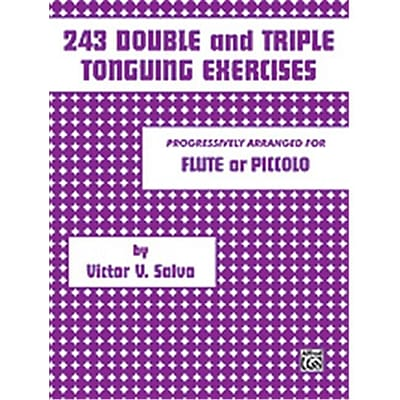 Alfred 243 Double and Triple Tonguing Exercises - Music Book(ALFRD49878)