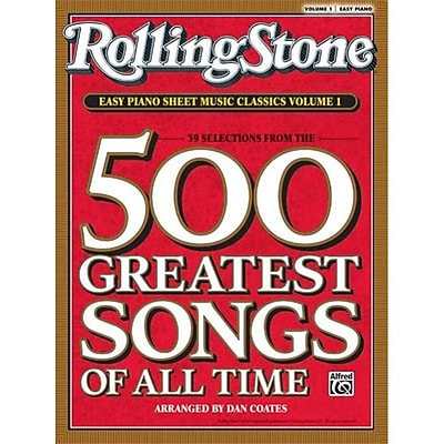 Alfred Rolling Stone Easy Piano Sheet Music Classics- Volume 1 - Music Book(ALFRD41061)