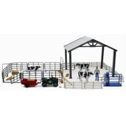 New Ray Dairy Farm Life Set Large Playset, Pack Of 6 (Nwrt020)