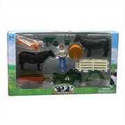 New Ray Cattle Ranch Life Set Medium Playset, Pack Of 6 (Nwrt022)