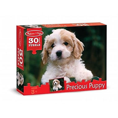 Melissa And Doug Precious Puppy Cardboard Jigsaw Puzzle, 30 Pieces (Mlssand1369)