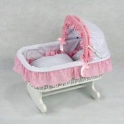 Regal Doll Carriages Susanne Wicker Rocking Doll Bed(RDLC008)