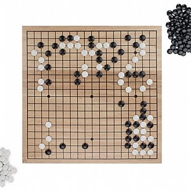 Brybelly Holdings Game Of Go Set With Wooden Board & Complete Set Of Stones (Brybl4758)