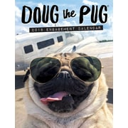 "2018 Willow Creek Press 6.5"" x 8.5"" Doug the Pug Engagement Calendar (47454)"