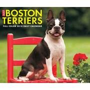 """2018 Willow Creek Press 4.25"""" x 5.25"""" Just Boston Terriers Box Calendar (46693)"""
