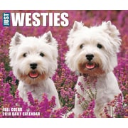 "2018 Willow Creek Press 4.25"" x 5.25"" Just Westies Box Calendar (46914)"