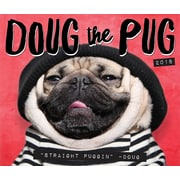 "2018 Willow Creek Press 4.25"" x 5.25"" Doug the Pug Box Calendar (46761)"