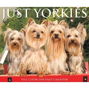 "2018 Willow Creek Press 4.25"" x 5.25"" Just Yorkies Box Calendar (46952)"