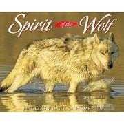 "2018 Willow Creek Press 4.25"" x 5.25"" Spirit of the Wolf Box Calendar (46884)"