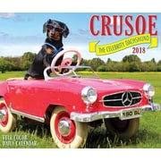 "2018 Willow Creek Press 4.25"" x 5.25"" Crusoe the Celebrity Dachshund Box Calendar (47188)"