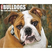 "2018 Willow Creek Press 4.25"" x 5.25"" Just Bulldogs Box Calendar (46716)"