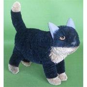 Brushart Cat Black Standing 16 Inch (Gc13251)
