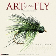 "2018 Willow Creek Press 12"" x 12"" Art of the Fly (Paul Twitchell) Wall Calendar (44002)"
