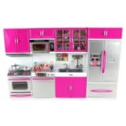 Az Import & Trading Battery Operated Kitchen Playset - Refrigerator, Stove, Sink & Microwave (Azimpt02509)