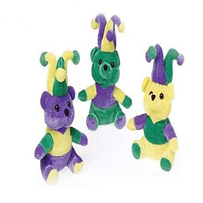 Us Toy Mardi Gras Plush Teddy Bears - 12 Per Pack - Pack Of 3 (Ustcyc175149) 23982413