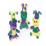 Us Toy Mardi Gras Plush Teddy Bears - 12 Per Pack - Pack Of 3 (Ustcyc175149)