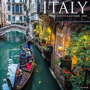 "2018 Willow Creek Press 12"" x 12"" Italy Wall Calendar (45290)"