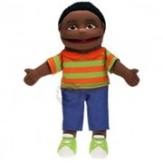 Puppet Company Small Boy Hand Puppet - Dark Skin Tone (Puptc232)
