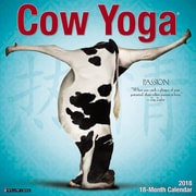 "2018 Willow Creek Press 12"" x 12"" Cow Yoga Wall Calendar (44651)"
