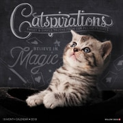 "2018 Willow Creek Press 12"" x 12"" Catspirations Wall Calendar (44446)"
