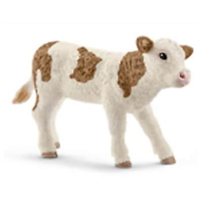 Schleich North America Simmental Calf Toy Figure -Brown & White (Trval98222) 23982359