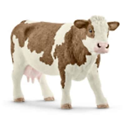 Schleich North America Simmental Cow Toy Figure - Brown & White (Trval98261) 23982368