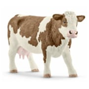 Schleich North America Simmental Cow Toy Figure - Brown & White (Trval98261)