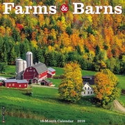 "2018 Willow Creek Press 12"" x 12"" Farms & Barns Wall Calendar (44873)"