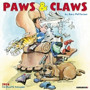 """2018 Willow Creek Press 12"""" x 12"""" Paws & Claws by Gary Patterson Wall Calendar (45764)"""