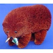 Brushart Bear Brown 10 Inch With Fish (Gc13445)