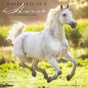 """2018 Willow Creek Press 12"""" x 12"""" Happiness is a Horse Wall Calendar (45139)"""