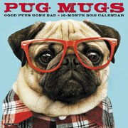 "2018 Willow Creek Press 12"" x 12"" Pug Mugs Wall Calendar (45856)"